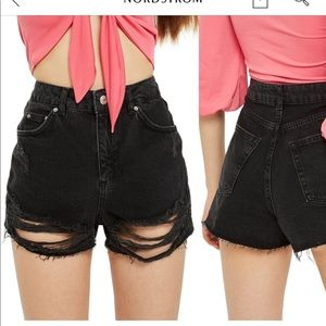 TOPSHOP Ripped Mom Jeans, size 8